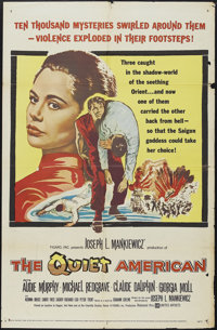 """The Quiet American (United Artists, 1958). One Sheet (27"""" X 41""""). Thriller. Starring Audie Murphy, Michael Red..."""