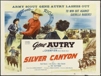 "Silver Canyon (Columbia, 1951). Half Sheet (22"" X 28""). Western. Starring Gene Autry, Champion, Gail Davis, Ji..."