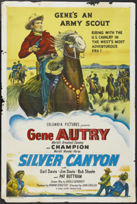 "Silver Canyon (Columbia, 1951). One Sheet (27"" X 41""). Western. Starring Gene Autry, Pat Buttram, Gail Davis..."