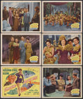 """Movie Posters:Musical, Something for the Boys (20th Century Fox, 1944). Title Lobby Card(11"""" X 14"""") and Lobby Cards (5) (11"""" X 14""""). Musical Comed...(Total: 6 Item)"""