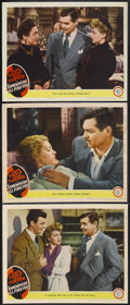 "Movie Posters:Drama, Somewhere I'll Find You (MGM, 1942). Lobby Cards (3) (11"" X 14"").Drama. Starring Clark Gable, Lana Turner, Robert Sterling,...(Total: 3 Item)"