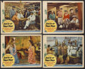 "Movie Posters:Adventure, South of Pago Pago (United Artists, 1940). Lobby Cards (4) (11"" X14""). Adventure. Starring Victor McLaglen, Jon Hall, Franc...(Total: 4 Item)"