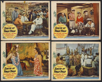 """South of Pago Pago (United Artists, 1940). Lobby Cards (4) (11"""" X 14""""). Adventure. Starring Victor McLaglen, J..."""