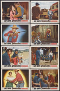"""Movie Posters:Western, Springfield Rifle (Warner Brothers, 1952). Lobby Card Set of 8 (11""""X 14""""). Western. Starring Gary Cooper, Phyllis Thaxter, ... (Total:8 Item)"""