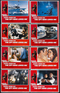 "The Spy Who Loved Me (United Artists, 1977). Lobby Card Set of 8 (11"" X 14""). James Bond Action. Starring Roge..."