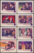 """Movie Posters:Hitchcock, Stage Fright (Warner Brothers, 1950). Lobby Card Set of 8 (11"""" X14""""). Thriller. Starring Jane Wyman, Marlene Dietrich, Mich...(Total: 8 Item)"""