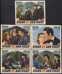 "Stand Up and Fight (MGM, 1939). Lobby Cards (5) (11"" X 14""). Western. Starring Wallace Beery, Robert Taylor, F..."