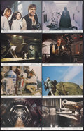 "Movie Posters:Science Fiction, Star Wars (20th Century Fox, 1977). Lobby Card Set of 8 (11"" X14""). Sci-Fi Action. Starring Mark Hamill, Harrison Ford, Car...(Total: 8 Item)"