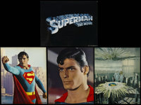 "Superman: the Movie (Warner Brothers, 1978). Title Jumbo Lobby Card and Jumbo Lobby Cards (3) (14"" X 17""). Act..."