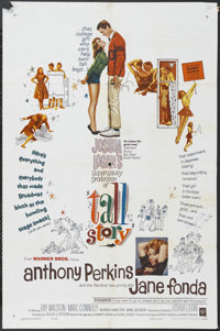 "Tall Story (Warner Brothers, 1960). One Sheet (27"" X 41""). Sports Comedy. Starring Jane Fonda, Anthony Perkins..."