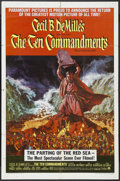 "Movie Posters:Drama, The Ten Commandments (Paramount, R-1966). One Sheet (27"" X 41""). Biblical Drama. Starring Charlton Heston, Yul Brynner, Anne..."