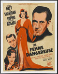 "Movie Posters:Drama, They Drive By Night (Warner Brothers, 1940). French Petite (23.5"" X31""). Thriller. Starring George Raft, Ann Sheridan, Ida ..."