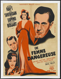"""They Drive By Night (Warner Brothers, 1940). French Petite (23.5"""" X 31""""). Thriller. Starring George Raft, Ann..."""