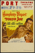 "Movie Posters:Drama, Tokyo Joe (Columbia, 1949). Window Card (14"" X 22""). Crime.Starring Humphrey Bogart, Alexander Knox, Florence Marly and Ses..."