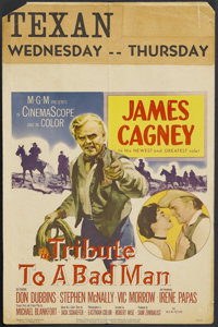 "Tribute to a Bad Man (MGM, 1956). Window Card (14"" X 22""). Western. Starring James Cagney, Don Dubbins, Stephe..."