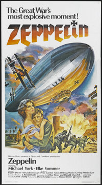 "Zeppelin (Warner Brothers, 1971). Three Sheet (41"" X 81""). War Adventure. Starring Michael York, Elke Sommer..."