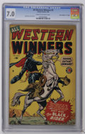 """Golden Age (1938-1955):Western, All Western Winners #3 Davis Crippen (""""D"""" Copy) pedigree (Marvel, 1949) CGC FN/VF 7.0 Cream to off-white pages. Anti-Wertham..."""