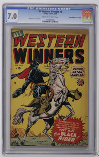 """All Western Winners #3 Davis Crippen (""""D"""" Copy) pedigree (Marvel, 1949) CGC FN/VF 7.0 Cream to off-white pages..."""