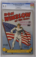 Golden Age (1938-1955):War, Don Winslow of the Navy #6 Crowley Copy/File Copy (Fawcett, 1943)CGC VF+ 8.5 Cream to off-white pages. American flag cover....