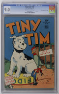 """Golden Age (1938-1955):Adventure, Four Color #42 Tiny Tim - Davis Crippen (""""D"""" Copy) pedigree (Dell, 1944) CGC VF/NM 9.0 Off-white to white pages. Highest CGC..."""