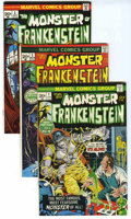 Bronze Age (1970-1979):Horror, Frankenstein Group (Marvel, 1973-75) Condition: Average FN/VF. Analmost full run of the series is offered here. A great way...(Total: 16 Comic Books)