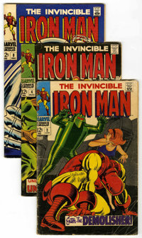 Iron Man #2, 4, and 8 Group (Marvel, 1968). Includes #2 (GD), 4 (VG+), and 8 (VG+). Art by Johnny Craig and George Tuska...
