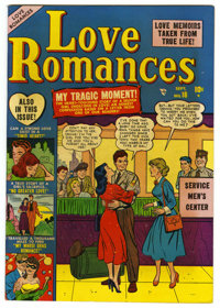 "Love Romances #18 Davis Crippen (""D"" Copy) pedigree (Marvel, 1951) Condition: Qualified NM-. Book is missing t..."