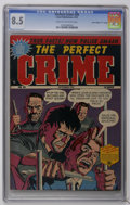 "Golden Age (1938-1955):Crime, Perfect Crime #28 Davis Crippen (""D"" Copy) pedigree (Cross Publications, 1952) CGC VF+ 8.5 Cream to off-white pages. Highest..."