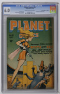 "Golden Age (1938-1955):Science Fiction, Planet Comics #38 Davis Crippen (""D"" Copy) pedigree (Fiction House,1945) CGC FN 6.0 Cream to off-white pages. First Mysta o..."