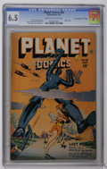 """Golden Age (1938-1955):Science Fiction, Planet Comics #48 Davis Crippen (""""D"""" Copy) pedigree (Fiction House,1947) CGC FN+ 6.5 Cream to off-white pages. Robot cover...."""