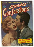 "Golden Age (1938-1955):Romance, Strange Confessions #4 (Ziff-Davis, 1952) Condition: Apparent VF-.Photo cover. Considered ""scarce"" by Overstreet. Note that..."