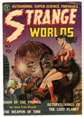 "Golden Age (1938-1955):Science Fiction, Strange Worlds #2 Davis Crippen (""D"" Copy) pedigree (Avon, 1951)Condition: VG/FN. Wally Wood art. Crom the Barbarian by Joe..."
