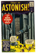 Silver Age (1956-1969):Horror, Tales to Astonish #1 (Marvel, 1959) Condition: VG+. Jack Kirbymonster cover. Kirby, Steve Ditko, and Jack Davis art. Overst...