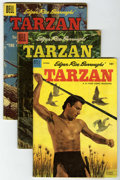 Silver Age (1956-1969):Adventure, Tarzan #48, 77, and 92 Group (Dell, 1953-57) Condition: Average GD. Includes #48 (Lex Barker photo cover), 77 (painted cover... (Total: 3 Comic Books)