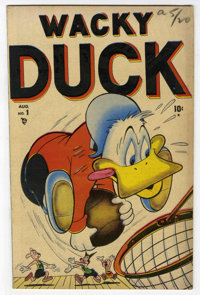 "Wacky Duck #1 Davis Crippen (""D"" Copy) pedigree (Marvel, 1948) Condition: VF-. Overstreet 2006 VF 8.0 value =..."