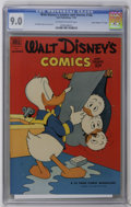 "Golden Age (1938-1955):Cartoon Character, Walt Disney's Comics and Stories #146 Davis Crippen (""D"" Copy)pedigree (Dell, 1952) CGC VF/NM 9.0 Off-white to white pages...."
