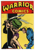 Golden Age (1938-1955):Superhero, Warrior Comics #1 Mile High pedigree (HC Blackerby, 1945) Condition: VF/NM. Wing Brady, The Iron Man (no, not that one), and...