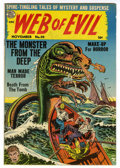 Golden Age (1938-1955):Adventure, Web of Evil #20 Mile High pedigree (Quality, 1954) Condition: VF+. Chuck Cuidera cover art. Overstreet 2006 VF 8.0 value = $...