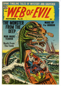 Web of Evil #20 Mile High pedigree (Quality, 1954) Condition: VF+. Chuck Cuidera cover art. Overstreet 2006 VF 8.0 value...