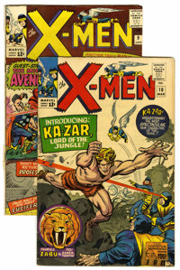 X-Men #9 and 10 Group (Marvel, 1965). Includes #9 (early Avengers appearance, first appearance of Lucifer -- VG-), and #...