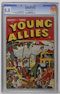 Golden Age (1938-1955):Superhero, Young Allies Comics #17 (Timely, 1945) CGC FN- 5.5 Cream to off-white pages. Alex Schomburg cover. Mike Sekowsky, Bob Powell...