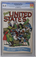 "Golden Age (1938-1955):Non-Fiction, Your United States #nn Davis Crippen (""D"" Copy) pedigree (LloydJacquet Studios, 1946) CGC VF 8.0 Off-white to white pages. ..."