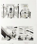 """Original Comic Art:Complete Story, Dave Berg - Mad #314 Complete 5-page """"Lighter Side of"""" StoryOriginal Art (EC, 1992). These five pages of Dave Berg's """"The L..."""