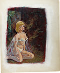 Original Comic Art:Sketches, Luis Dominguez - Romance Illustration Original Art (undated). A beautiful, buxom blonde takes center stage in this mixed-med...
