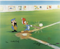 "Animation Art:Limited Edition Cel, ""Woody Gets a Hit"" Limited Edition Hand Painted Cel #62/200Original Art (Walter Lantz Productions, 1992). This hand painted...(Total: 3 Items)"