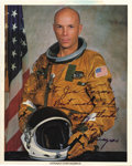 """Autographs:Celebrities, Story Musgrave Signed Color Photograph, 8"""" x 10"""", """"To JoeGarino/ Best wishes and/ many thanks,/ Story/ Musgrave."""" Aphy... (Total: 1 Item)"""