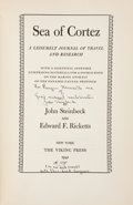 Books:Literature 1900-up, John Steinbeck and Edward F. Ricketts. Sea of Cortez. ALeisurely Journal of Travel and Research. With aScientifi...