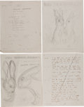 Books:Children's Books, Garth Williams. Group containing the Original Manuscript and theOriginal Artist's Mock-up for The Rabbits' Wedding...