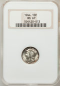 Mercury Dimes: , 1944 10C MS67 NGC. NGC Census: (783/2). PCGS Population (351/0).Mintage: 231,410,000. Numismedia Wsl. Price for problem fr...