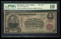 National Bank Notes:West Virginia, Huntington, WV - $5 1902 Red Seal Fr. 587 The West Virginia NB Ch. # (S)7359. ...